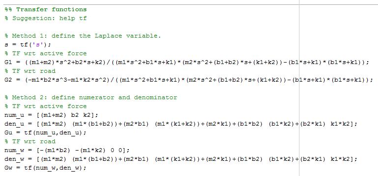 Extracto de código Matlab